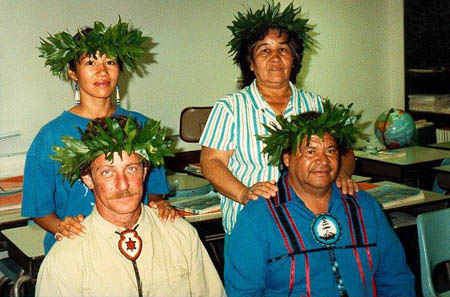 Nancy Latuja, John Stokes, Judy and Jake Swamp, 1991.