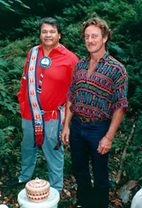 Jake Swamp and John Stokes in 1990