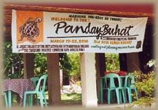 The banner for our mentor training on Isla Reta.